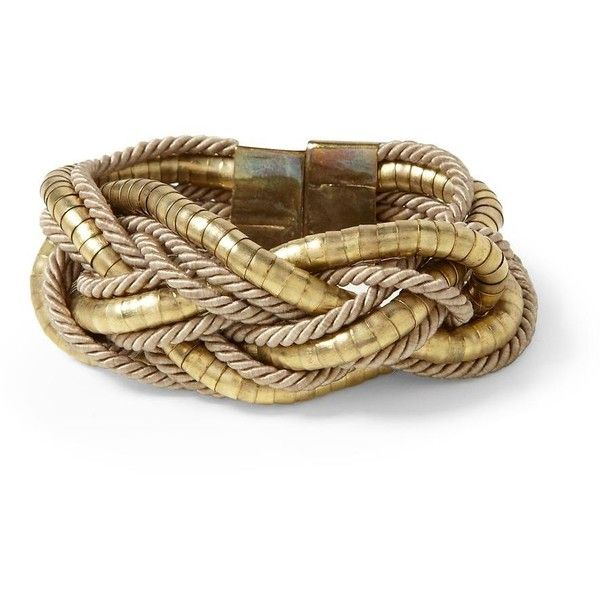 Hive honey braided rope and metal bracelet 28 liked for Rope designs and more
