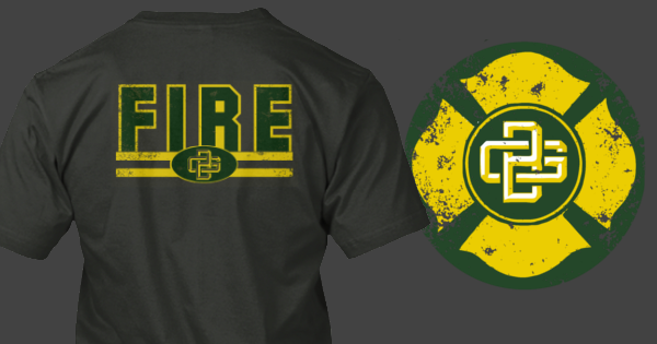 the best attitude 1ab8a 3417b Green Bay Packers Fire Department themed shirt. Too cool ...