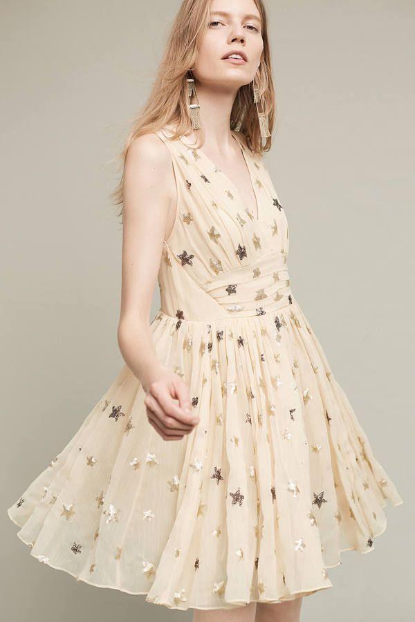 Ranna Gill Sequined Stars Dress #anthropologie #star #dress