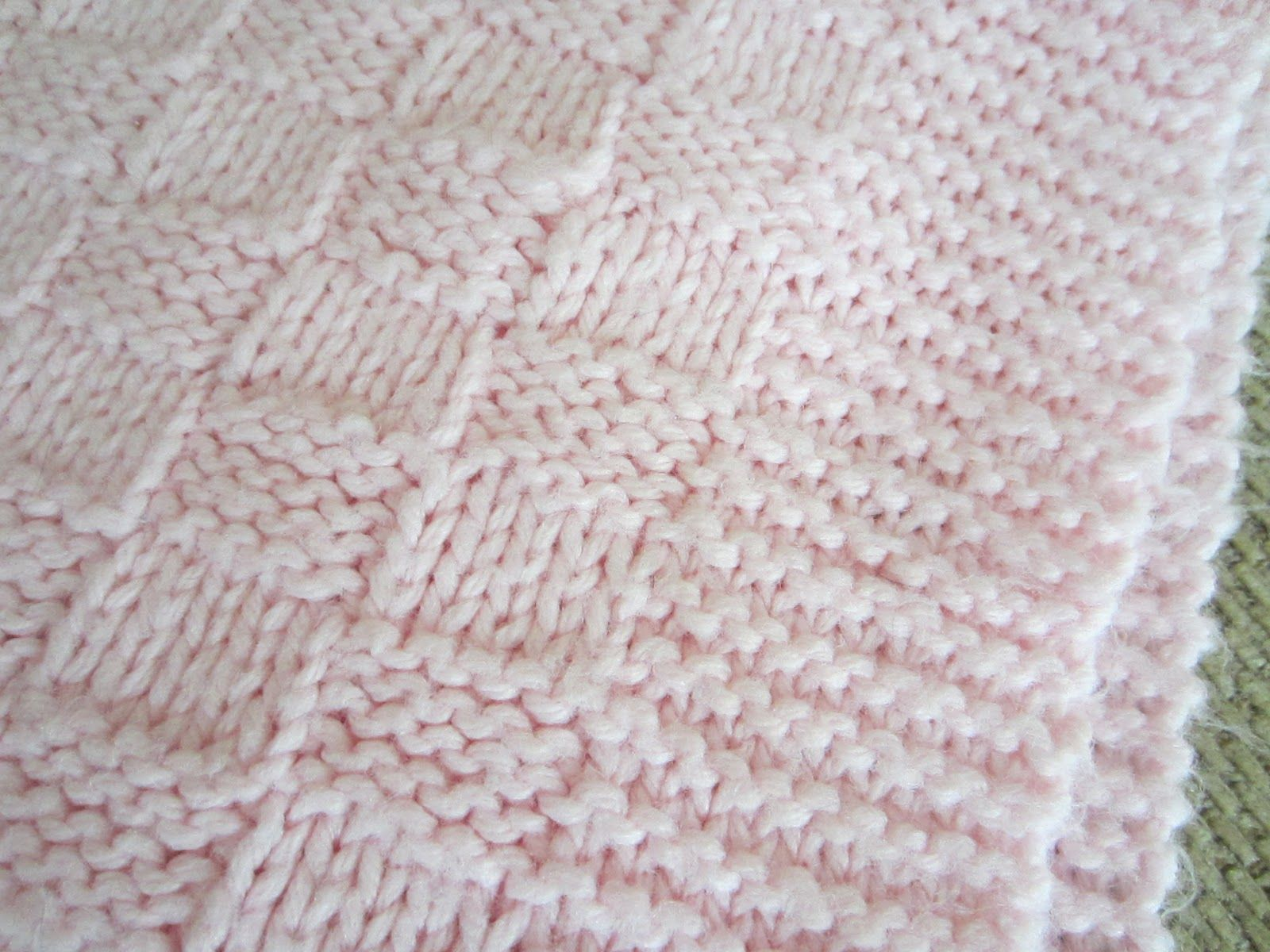Easy Baby Blanket Knitting Pattern   Simple Homecraft: My First ...