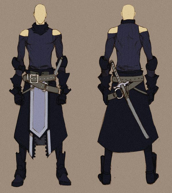 Black swordnman - concept by *MizaelTengu on deviantART | Characters -Male | Pinterest ...