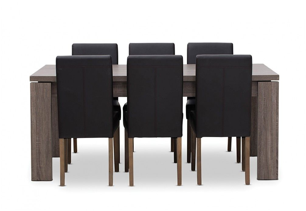 majestic looking gray upholstered dining chairs. Majesty Triumph 7 Piece Dining Suite  Super Amart House Furniture