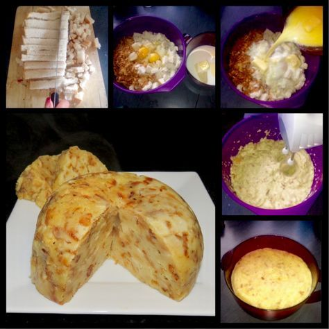 Riesen Semmelkloß aus der Mikrowelle (Giant bread dumpling from the microwave)