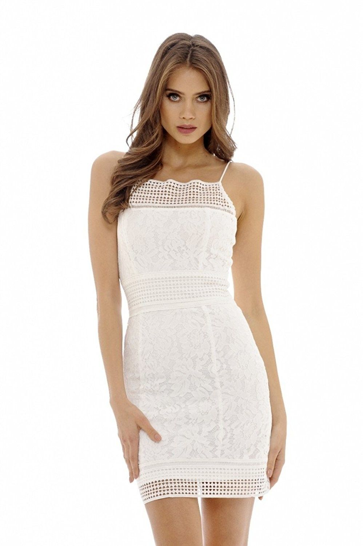 4f6129311dbe AX Paris Women's Lace Mini Dress - Cream - CT12FZDEH93,Women's Clothing,  Dresses,