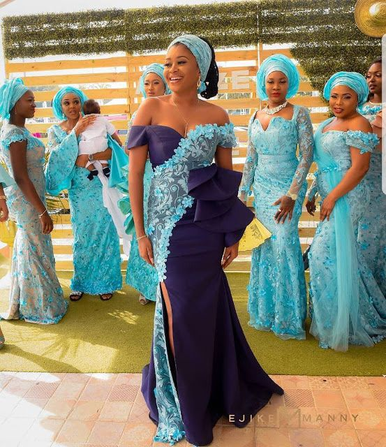 Check Out These Creative Aso Ebi Gowns For Stylish Wedding Guests ...