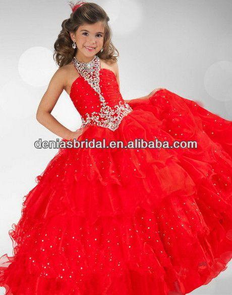 Robe de mariage rouge petite fille