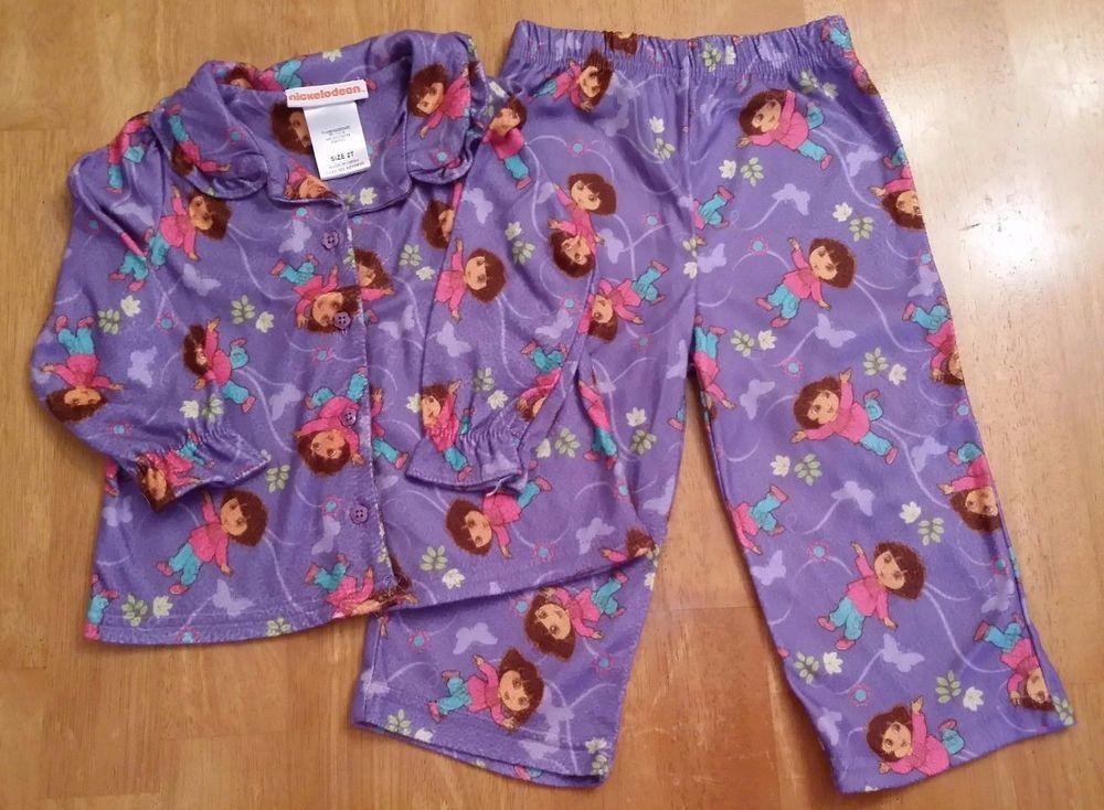 Dora PJs Lavender 2T SHIPS IMMEDIATELTY #Nickelodeon #TwoPiece