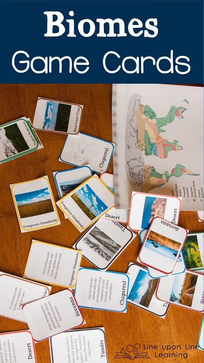 Learning About Biomes Game Cards Line Upon Line Learning Biomes Biomes Activities Homeschool Science [ 1425 x 800 Pixel ]