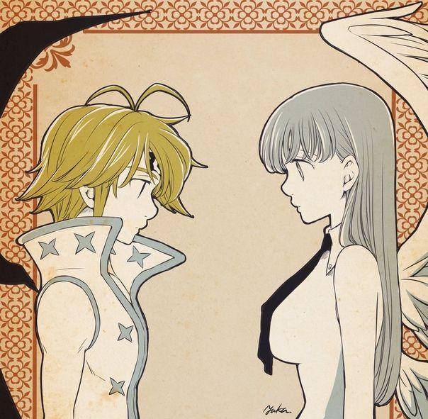 Nanatsu No Taizai Elizabeth Diosa Y Meliodas Demonio - Meliodas e Elizabeth   los 7 pecados capitales   Nanatsu ...