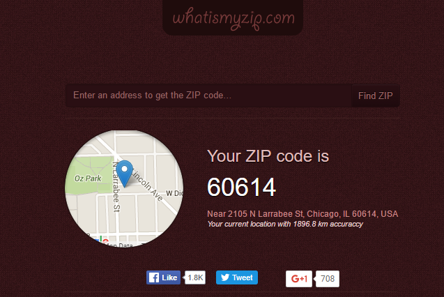 zip code of my location
