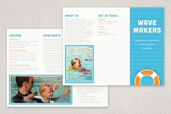 Swimming Pool Brochure Template Provide Information