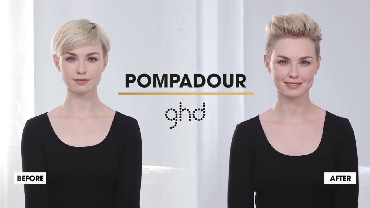 Pompadour ghd hairstyle howto youtube pixie pinterest