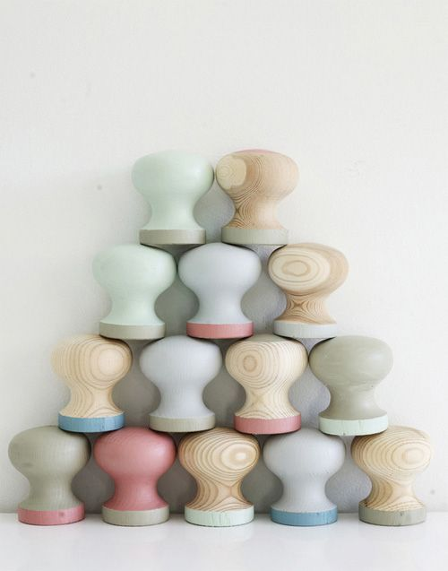 Nursery Essentials: Hand-Painted Pastel Knobs | Wooden door knobs ...