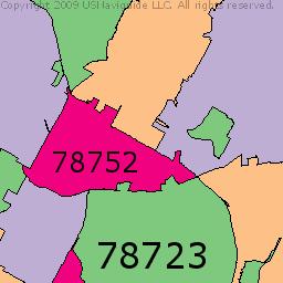 Hyde Park, Austin, Texas Zip Code Boundary Map (TX)   Hyde ...