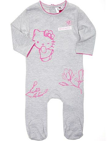 Pyjama jersey 'Hello Kitty' Bébé fille - Kiabi - 12,99€