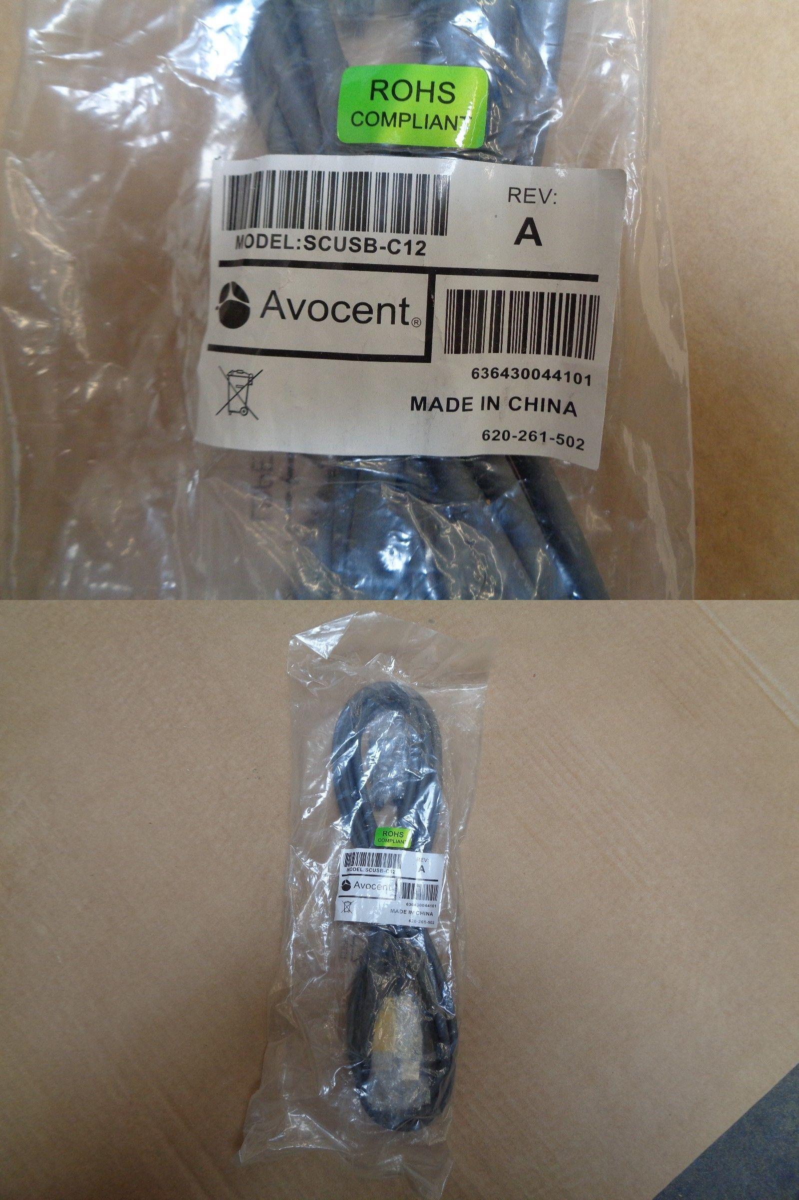 New Genuine Avocent 12 Ft Kvm Cable Scusb C12 620 261 502 1 Lot 10pcs Kvm Cables Cable Genuine