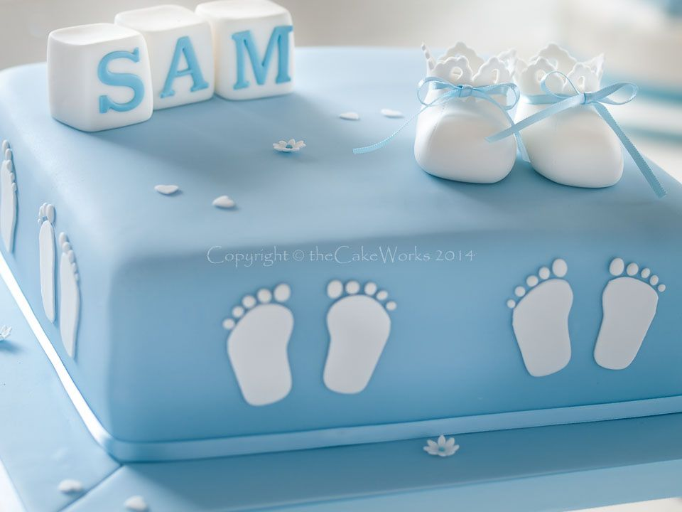 Christening cakes the cake works cake maker for darlington and the north east cakes - Baby baptism cake ideas ...