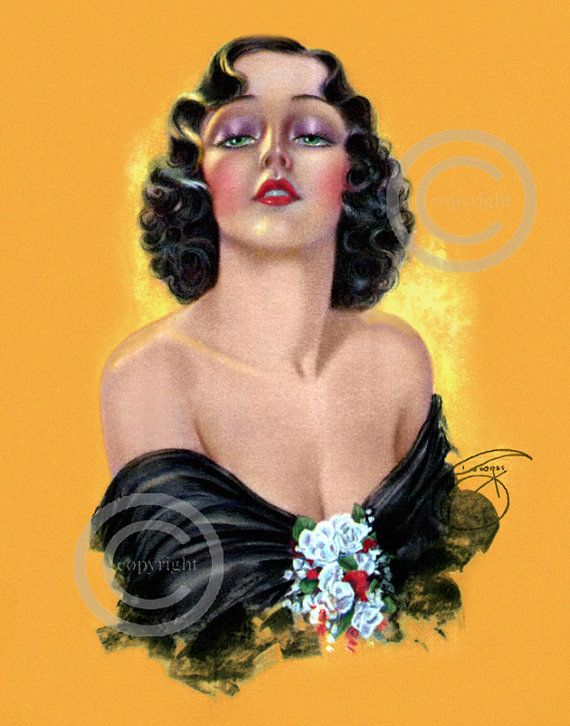 Gorgeous Glamour Girl Pin-up Print by Billy by DragonflyMeadowsArt