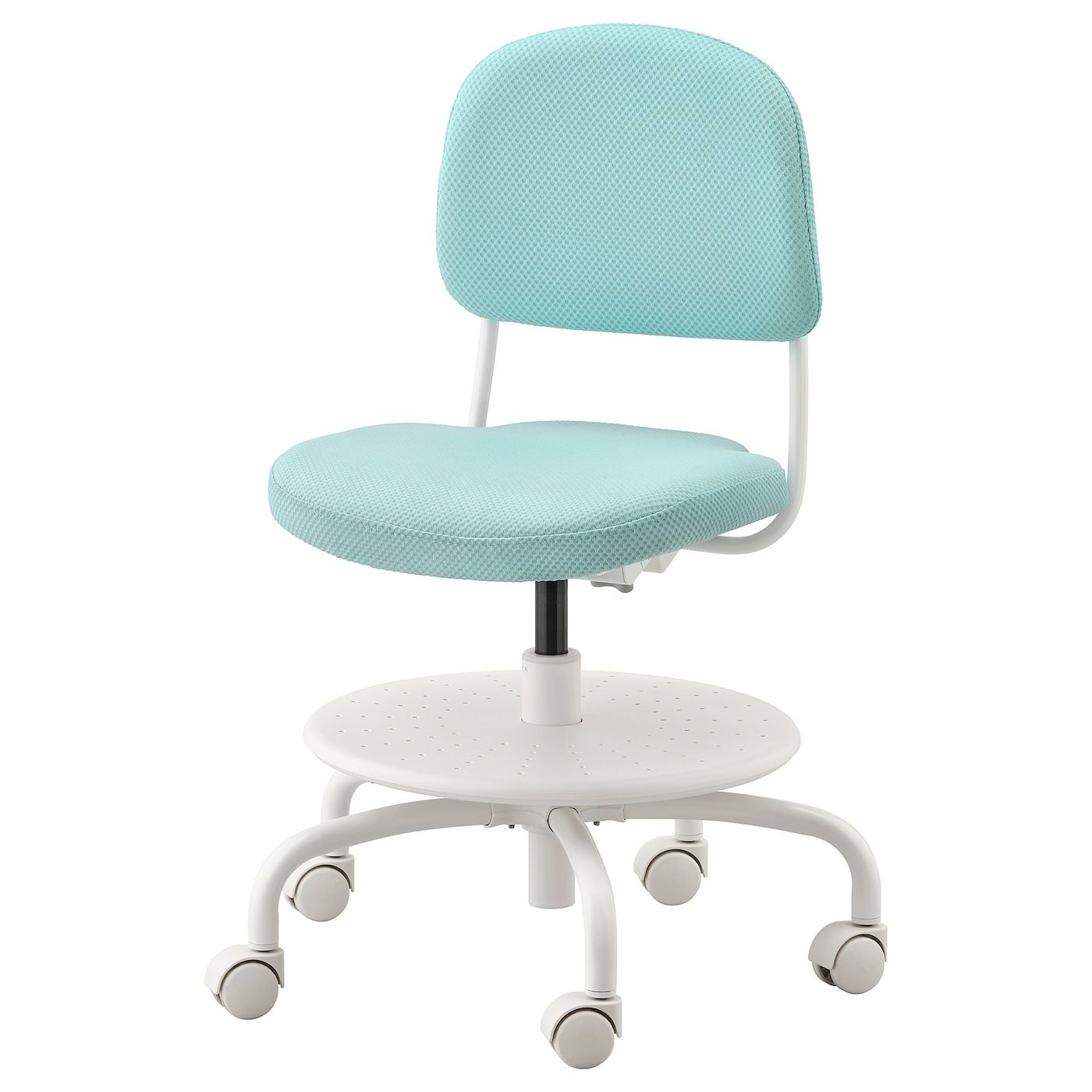 Vimund Chaise De Bureau Enfant Turquoise Clair Ikea In 2020 Childrens Desk And Chair Desk Chair Kids Desk Chair