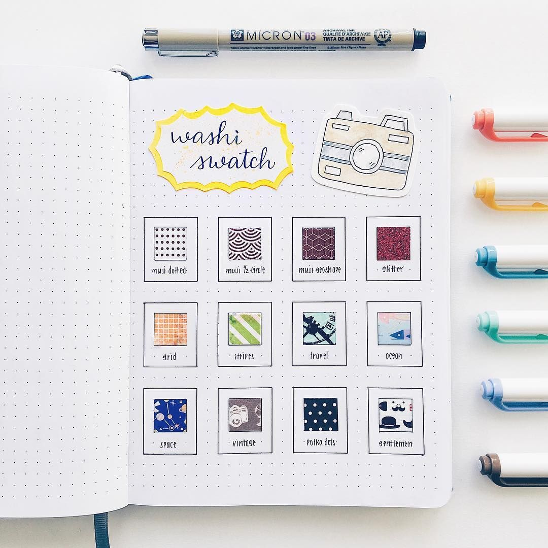 Happy Sunday Everyone Made A Mini Washi Tape Swatch In