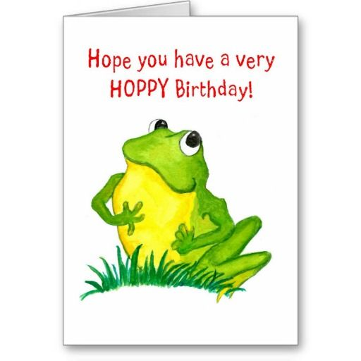 Green frog birthday note card up to 295 httpzazzle green frog birthday card m4hsunfo