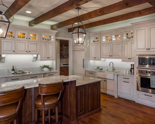 Custom Kitchen Designer Classy Central Texas Custom Home  Twotone Kitchen Cabinets  Pinterest Inspiration Design