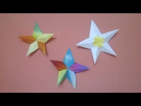 Paper Star Origami Star Christmas Star 3d Origami Star Crafts