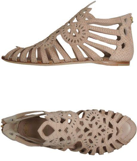 Dior Beige Laser Cut Sandals
