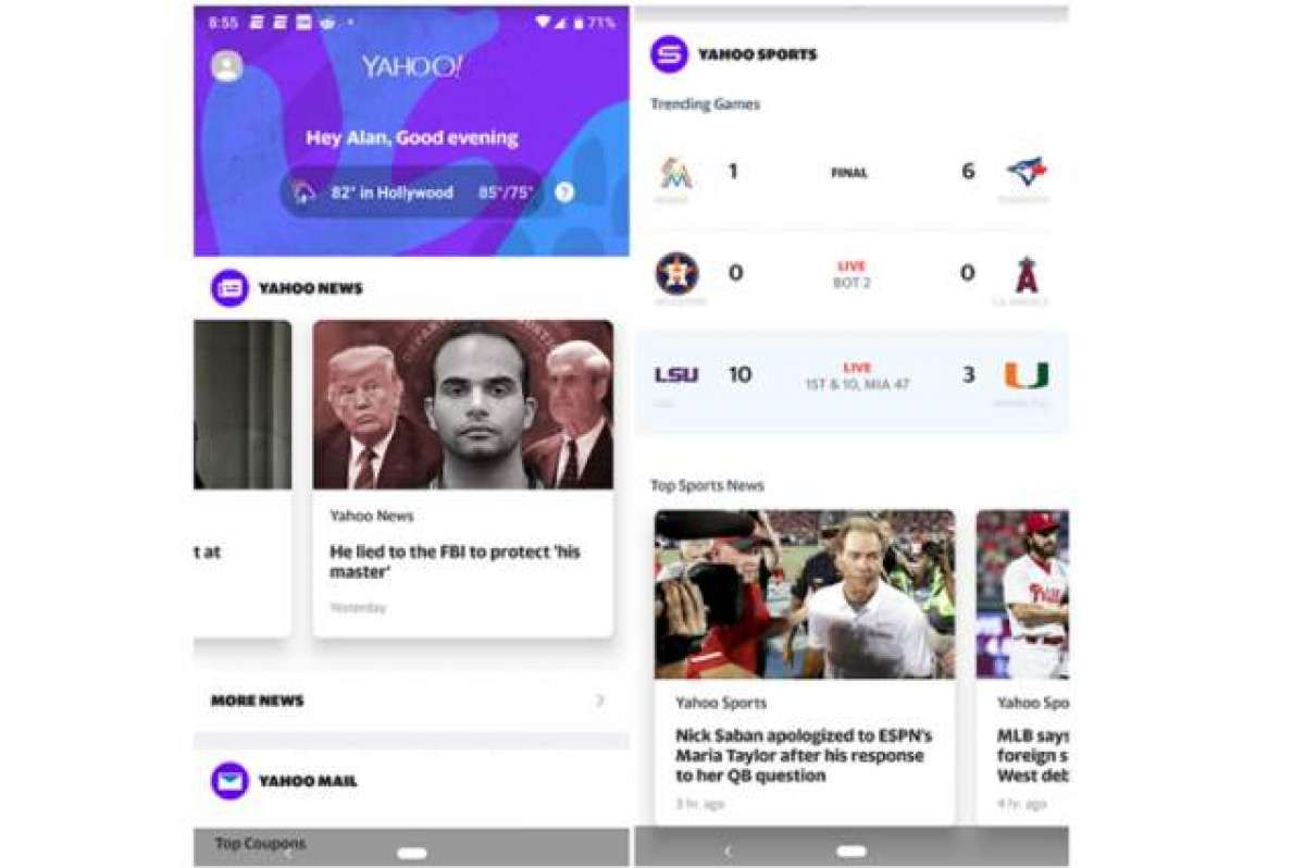 Yahoo Releases An All Purpose Android App Applications