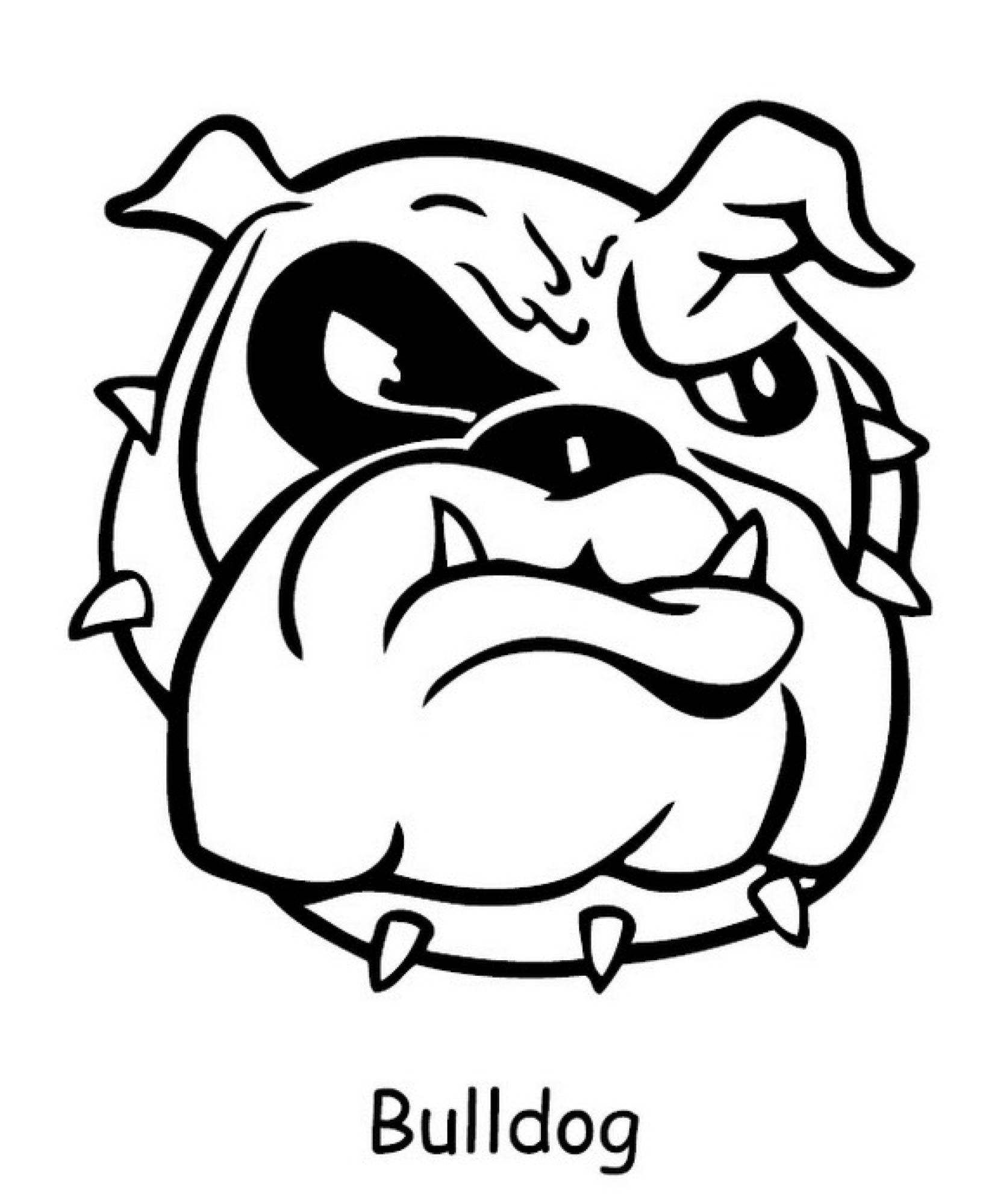 Cute Bulldog Cartoon Drawing Sketch Coloring Page Sketch Coloring