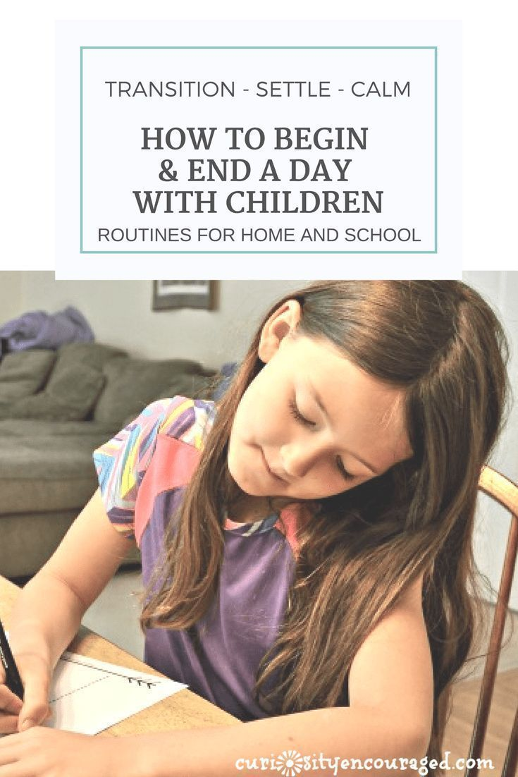 Beginning and Ending Routines Homeschool, Kids learning