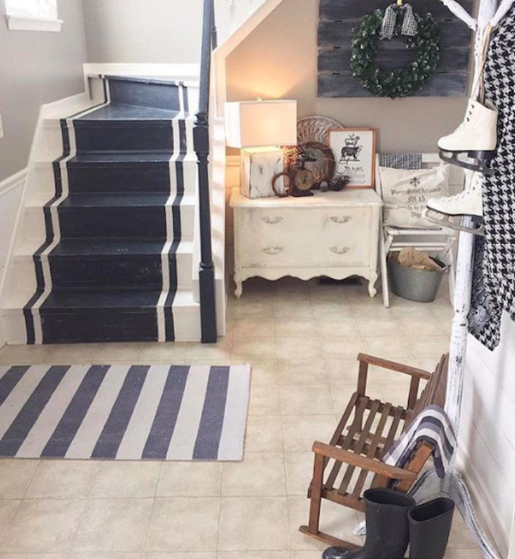 Painted Basement Stairs Ideas: 22 Unique Painted Stair Ideas In 2019