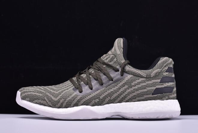 e0d252cd1ce adidas Harden LS Primeknit Olive Black-White Shoes