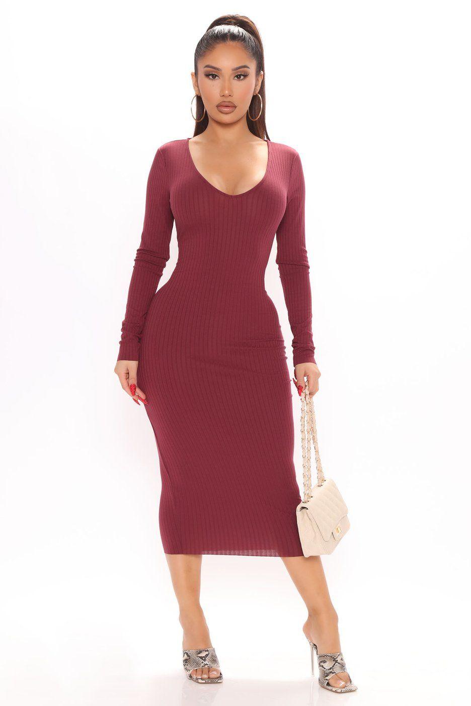 Low Key Ribbed Midi Dress Wine In 2021 Ribbed Midi Dress Midi Dress Dresses [ 1404 x 936 Pixel ]
