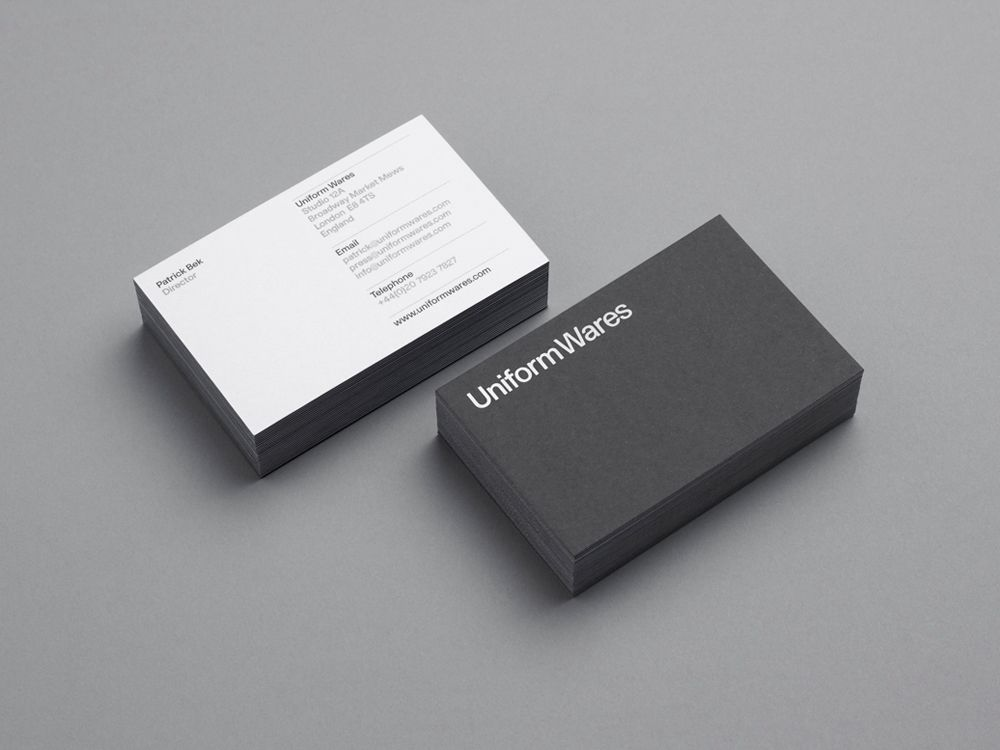 Uniform wares printed collateral uniform wares business cards timepiece company uniform wares commissioned uk based creative consultancy six to design a series of promotional mailers stationary suite gift vouc reheart Choice Image