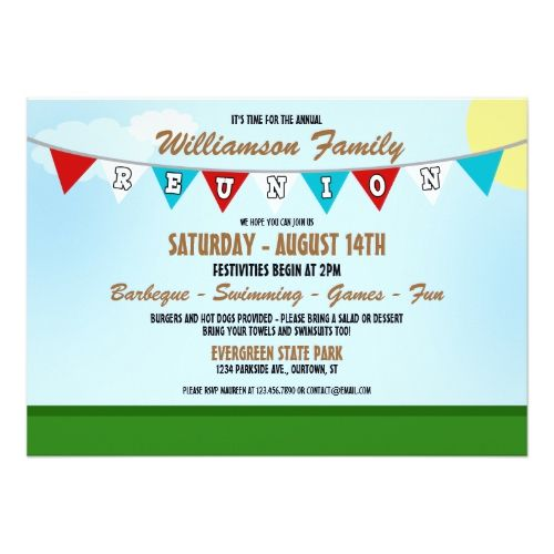 Summer Family Reunion Invitation  Family Reunion Invitations