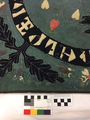 Historical Textiles - close up of Masku Pall
