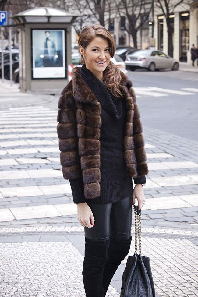 fur in the news, fur street style. fur coat | prendas | Pinterest ...