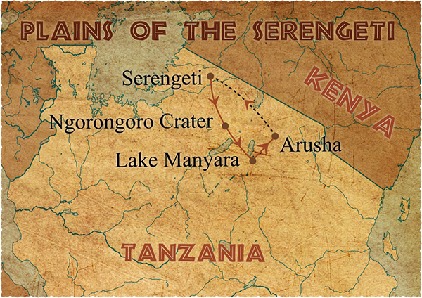 Plain Africa Map.Serengeti Plain Map Tanzania Africa These Are All Places I Ve