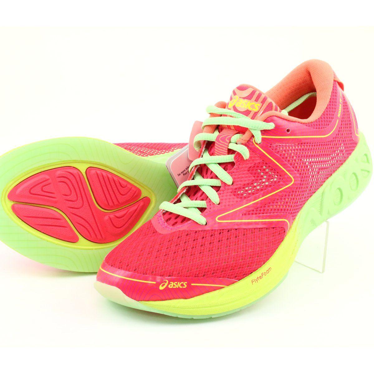 Buty Biegowe Asics Noosa Ff W T772n 2087 Czerwone Pomaranczowe Zielone Zolte Running Shoes Asics Running Shoes Shoes