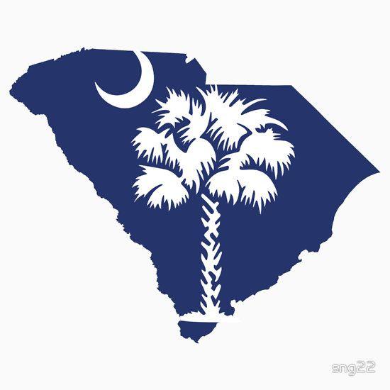 South Carolina Palmetto Tree By Sng22 South Carolina Flag Tree Stickers South Carolina