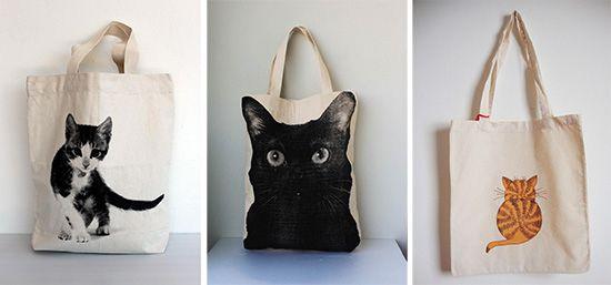 Cool Cat Tote Bags