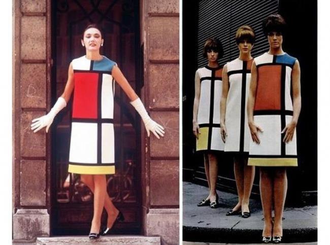 c822b860ed97 Желтое платье iv sen loran Couture, Art De Mondrian, Yves Saint Laurent, Ysl
