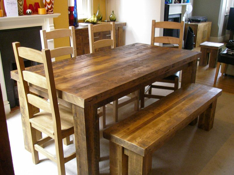 Rustic wood benches, Reclaimed wooden benches- eatsleeplive Sample
