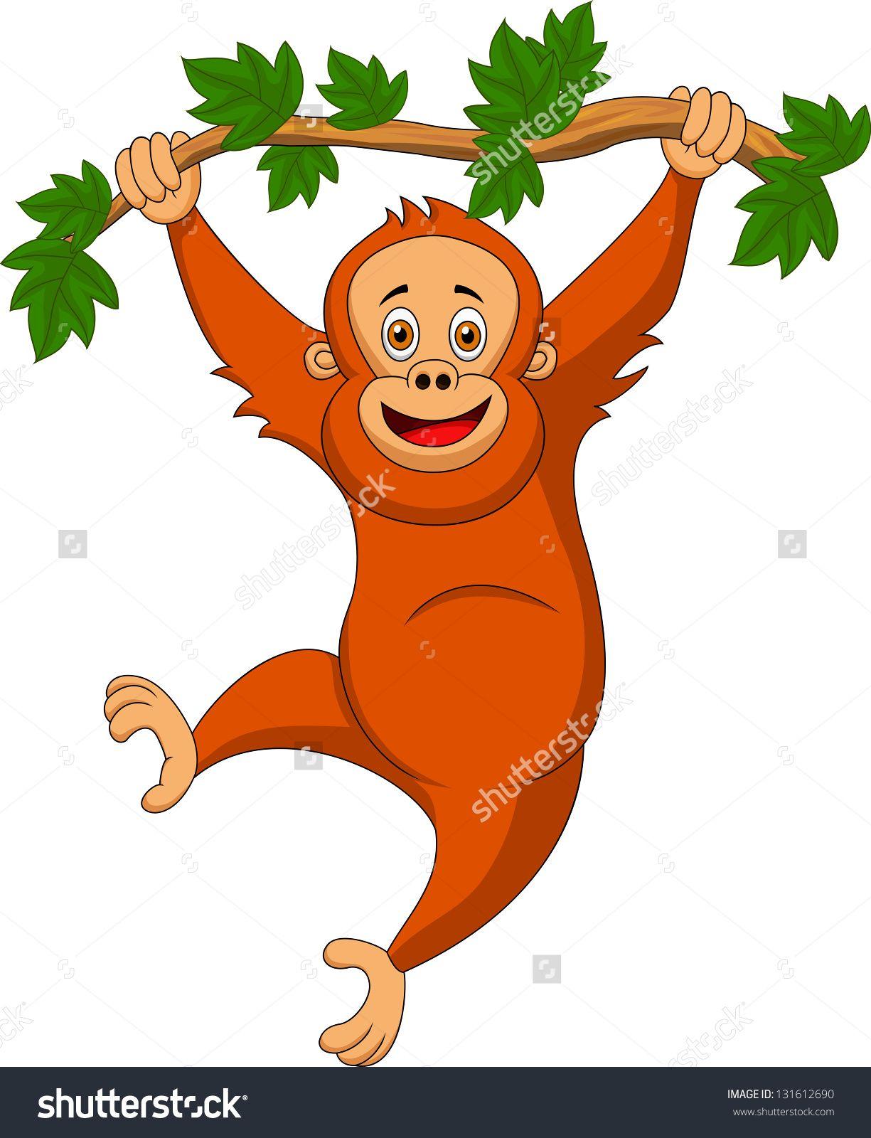 Orangutan Cartoon Cute Orangutan ...