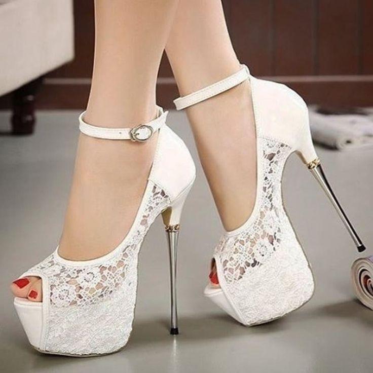 Chaussures de soirée blanches Fashion femme ek1z0LX