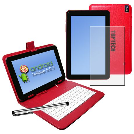 """Top Tech Audio 9"""" Android Tablet Pc Blue Red 9 In"""