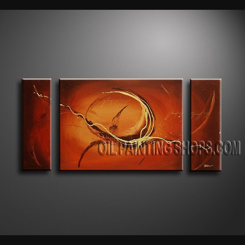 Large Modern Abstract Painting Artist Oil Painting Stretched Ready To Hang Abstract. This 3 panels canvas wall art is hand painted by Bo Yi Art Studio, instock - $154. To see more, visit OilPaintingShops.com