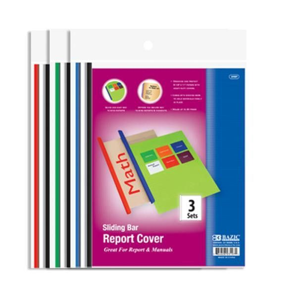 Bazic Clear Front Report Covers with Sliding Bar Case Pack 144
