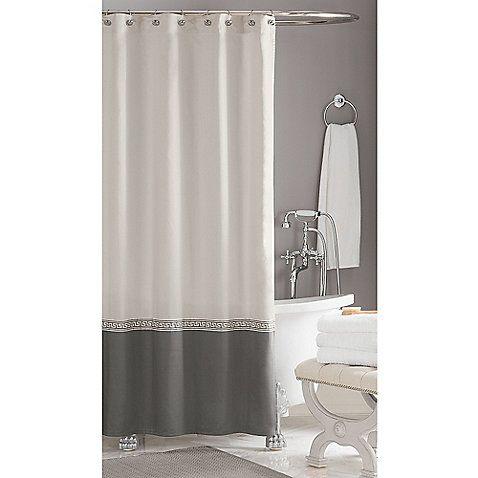 Wamsutta Greek Key Hotel Shower Curtain Bathrooms Interior